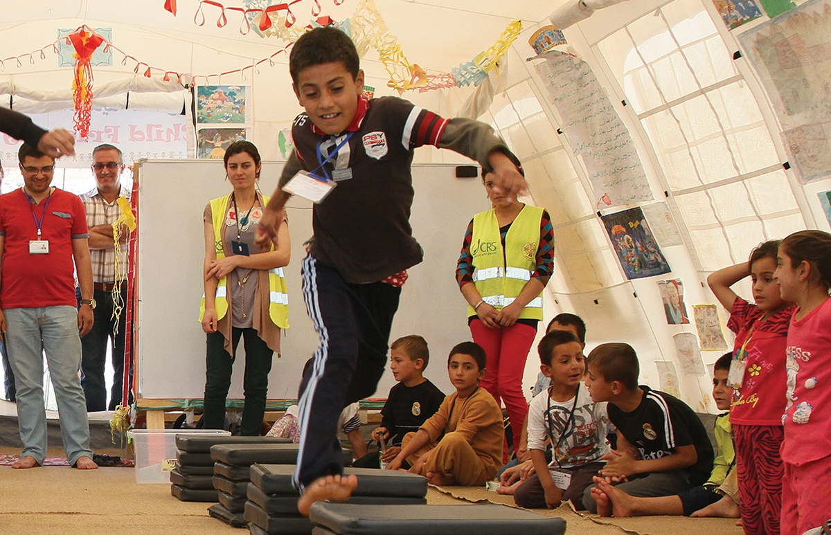 Children displaced by ISIS attend child support centers run by CRS in partnership with Caritas Iraq. Photo by Kim Pozniak/CRS